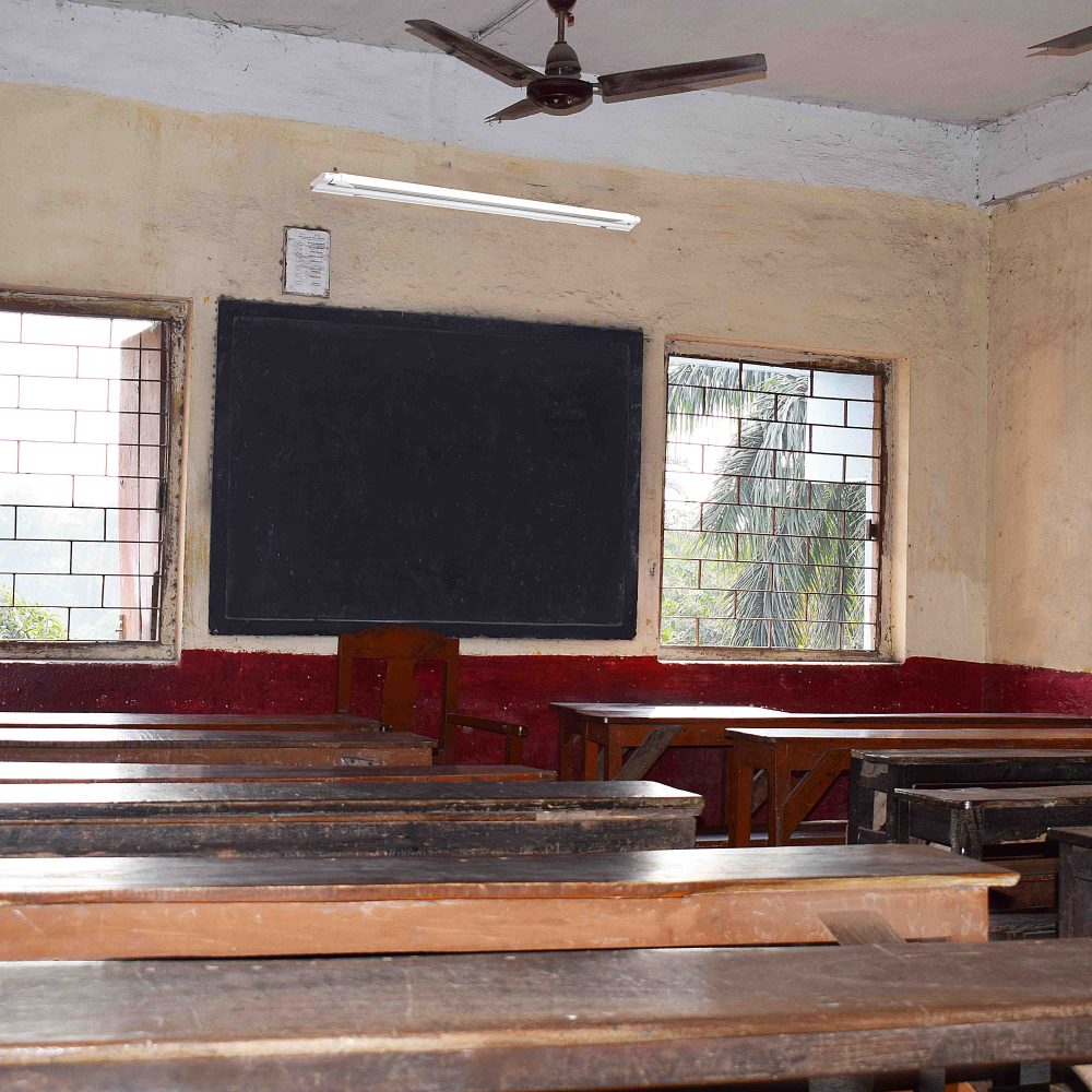 classroom with new LED installed